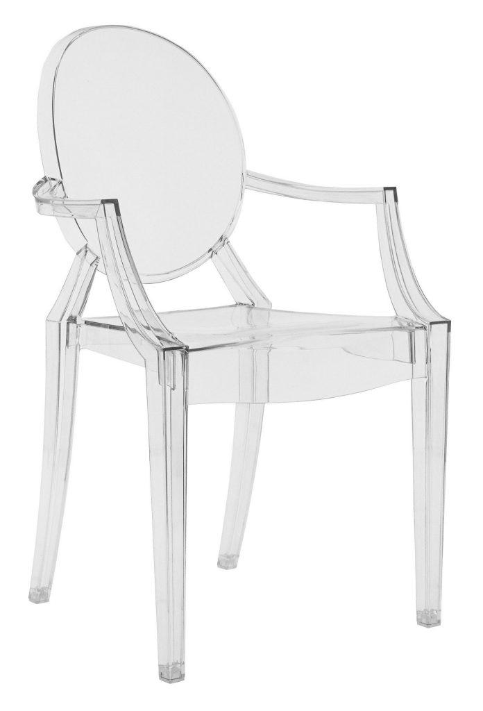 Plastikowe krzesło przezroczyste