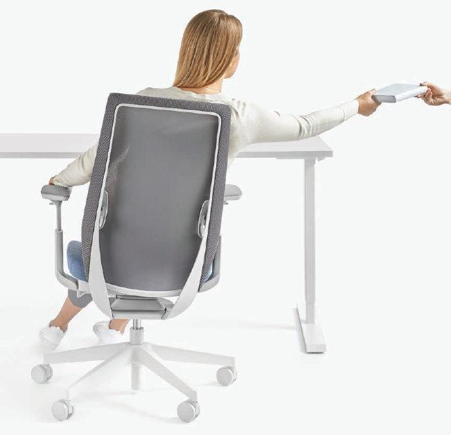 ergonomiczne krzesło do burka